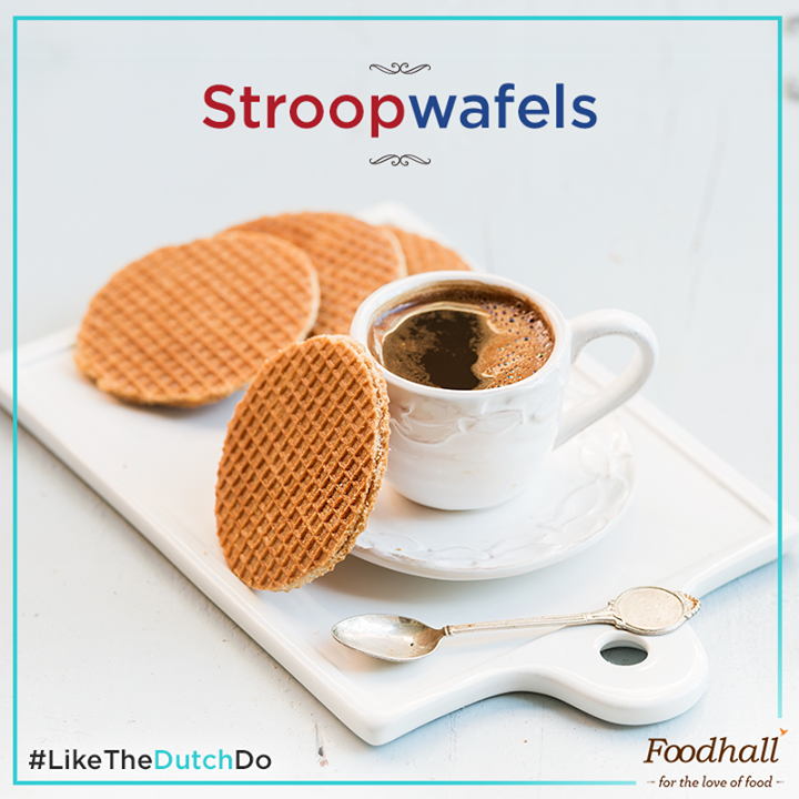 Everything about Stroopwafels has us dreaming about having our #coffee #LikeTheDutchDo. Simply perch them atop a steaming cup until the syrup softens & enjoy! Available at all our stores – add it to your shopping list right away!
