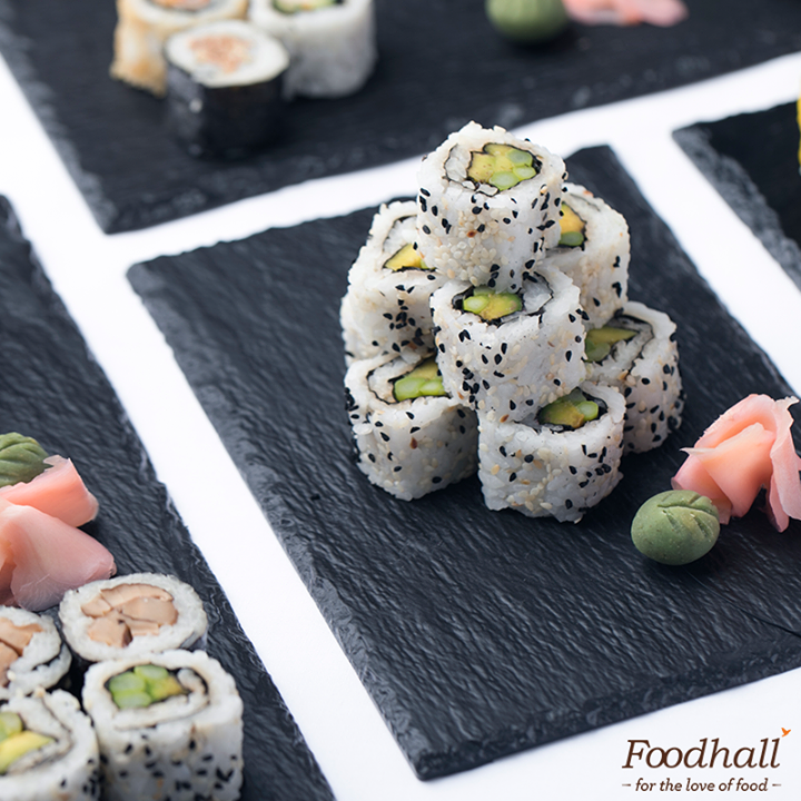 It's Sushi Sunday at Foodhall! Come try fresh sushi rolls made by our in-house sushi master.  What's your favourite type of sushi?