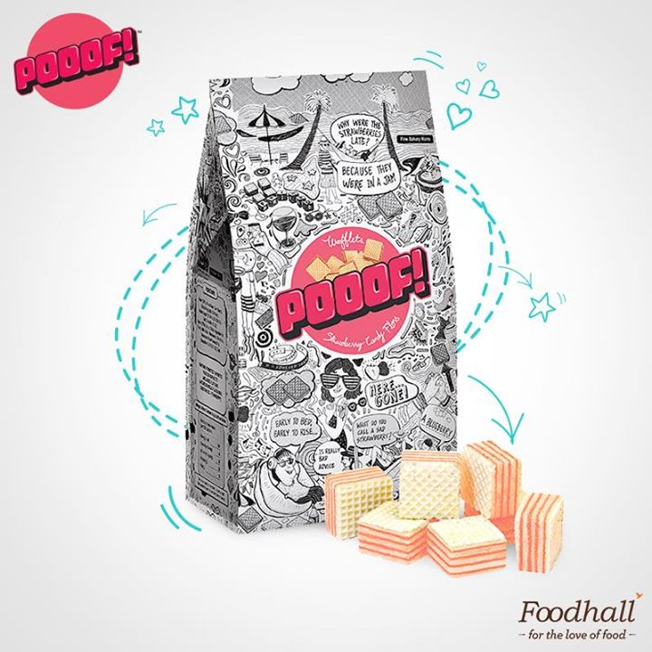 Pooof! And hunger pangs disappear!  These wafflets from 'POOOF!' are one of the coolest snack options available at our store & are becoming a crowd-favourite! They've got Strawberry Candy Floss, Belgian Chocolate & Coffee Hazelnut – tell us which one you'd pick the next time you visit our stores.
