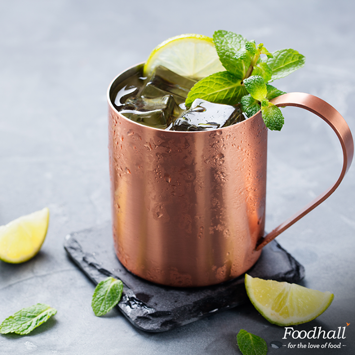 Serve up a cold one in gorgeous copper mugs. Tag a friend who loves a good Moscow Mule.