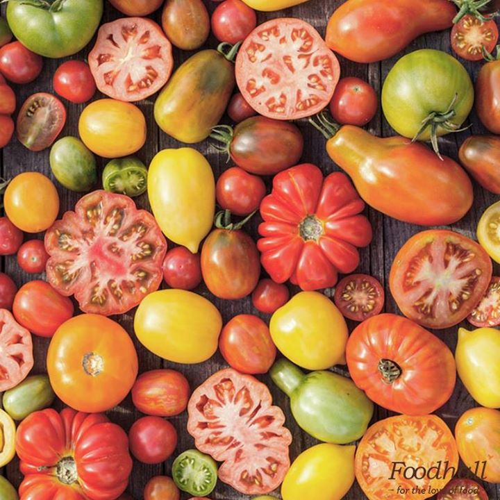 If you haven't tasted heirloom tomatoes then you've never tasted *real* tomatoes. Red, yellow, green, pink... So many colours to choose from!