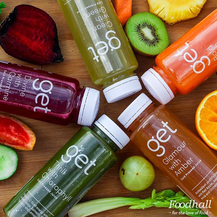 Cold pressed, #healthy & made with the same fresh ingredients you find on our shelves! We're happy to announce our in-house range of GET #Juices – launched exclusively at our #Delhi stores!   Now power through a hectic week or an intense workout with refreshing blends, packed with antioxidants & multivitamins. 100% natural. No preservatives. No sugar. Only added benefits 💯