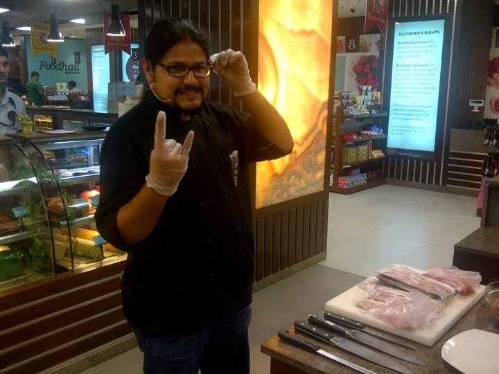 Sahil Makhija @ Chef Jay cooking up a storm at Foodhall