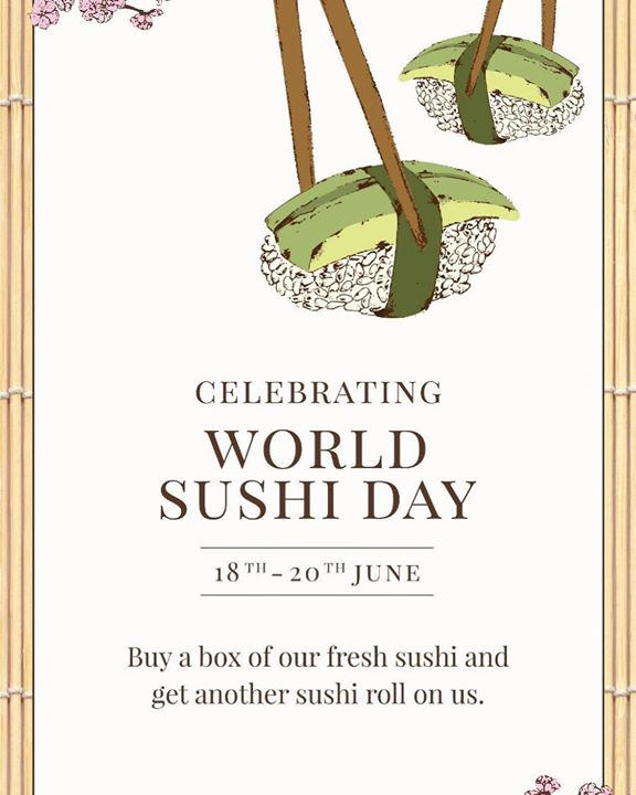 Celebrate and experience the fresh flavours of the classic Japanese delicacy, #Sushi with Foodhall.  Enjoy a portion of sushi and avail a sushi roll on the house from 18th to 20th June. Made with sticky rice, the freshest of fish (non-vegetarian choice) and fresh produce (vegetarian choice); served with authentic accompaniments Gari (picked ginger) and pungent #Wasabi.  #fortheloveoffood #foodhallindia #fortheloveofsushi #japanesecuisine #japan #fish #seafood #rice #ginger #fresh #healthy
