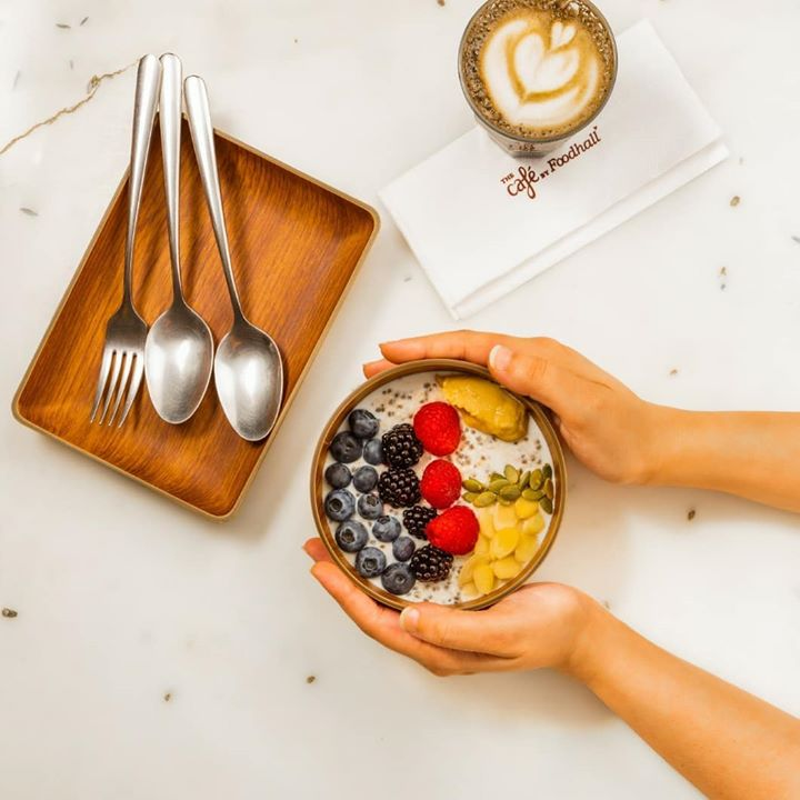 Setting new #breakfast goals this weekend with our Paleo Breakfast Bowl featuring low carb oatmeal, peanut butter, coconut milk and all-natural maple syrup!   #ForTheLoveofBreakfast, take a moment this weekend, to savour the most important meal of the day at The Café by Foodhall.  #FoodhallIndia #WeekendInspiration #BreakfastTime #BreakfastInspiration #BrunchGoals #Paleo #Vegan #WhatVegansEat #MyBreakfast