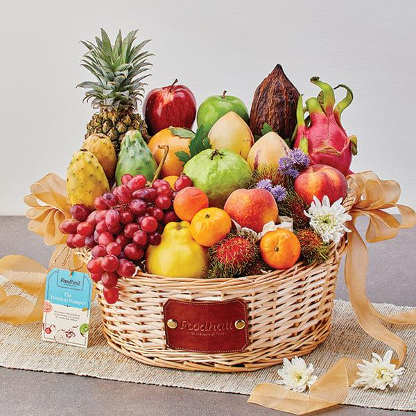 Dragon fruits, Thai guavas, Rambutans, Valencia Oranges & more – Our Tropical Hampers are bursting with an exotic medley of sweetness , scents, textures and colours!  Truly, we can't think of a more transporting gift this #Diwali than our fruit hampers, handpicked with an assortment of the world's freshest and finest fruits! Discover more at a Foodhall near you. You can also order in by calling us on 809503111 or via Scootsy (Mumbai only).  #ForTheLoveoFruits #FoodhallIndia #Diwali #FestiveSeason #FruitGifting #FruitHampers #FreshFruits #TropicalFruits #DiwaliGifting #DiwaliHamper