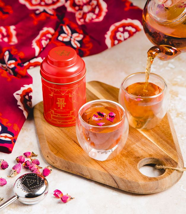 "From the Sinai sunrise to the Damscus dusk, steeped in centuries of tradition, ""Shai"" is the world's most popular drink after water. Spanning superstition, mysticism and herbalism, tea is a strong cultural binder in Persian homes.  A modernised spin on the hot, spiced elixir, our Rose Petal Tea blends high-quality rose petals with Assam Black tea for the perfect melange of floral and musky flavours. Brew it piping hot for an evening interlude, or prepare it as an iced tea for those balmy summer afternoons.  #FortheLoveofTea, pick up our specialty teas only at a Foodhall near you!  The House of Tea by Foodhall #FoodhallIndia #Shai #PersianTea #RosePetalICedTea #BlackRose #SingleEstateTea #THTByFoodhall #MiddleEasternTea #LevantTea"