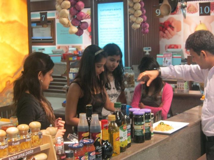 Some young shoppers decided to try their hand at cooking right at Foodhall!