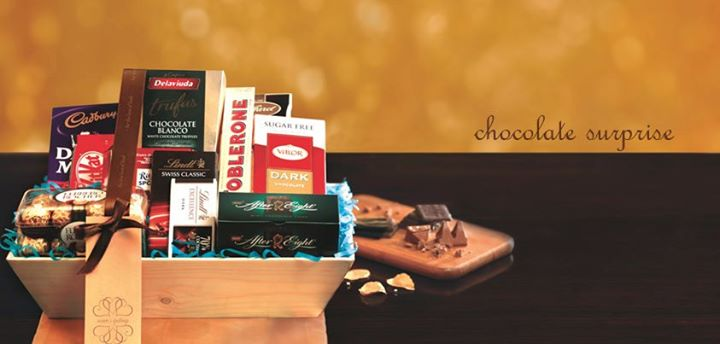 Chocolate Surprise  A fine selection of premium and luxurious chocolates is a classic touch for all celebrations and occasions. Loved by one and all!  DARK CHOCOLATE, MILK CHOCOLATE, FRUIT-N-NUT, CHOCO KISSES, CHOCOLATE WITH HAZELNUT, CHOCOLATE MINT, DARK TRUFFLES, CHOCO HAZELNUT ORANGE PACKAGING.  Rs. 2650   For more such gifting ideas visit www.foodhallonline.com