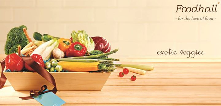 Exotic Veggies  Know someone who loves to cook a spread of Italian or Japanese food at home? Create a collection of fresh and tender exotic vegetable for them. A gesture well-appreciated by friends and family.  CHOICE OF VEGETABLE, PACKAGING   Rs. 999 onwards.  For more such gifting ideas visit www.foodhallonline.com