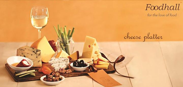 Who wouldn't like Cheese Platter as a New Year Gift!    Create your own platter from a selection of cheeses from across the world and their perfect accompaniments served on a platter.   CHOICE OF CHEESE AND ANTIPASTI, PACKAGING   Rs. 999 onwards.   For more such gifting ideas visit www.foodhallonline.com