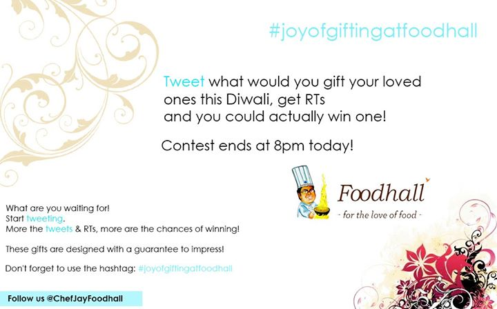 Participate in the twitter contest & win an exciting Gourmet Food Basket.