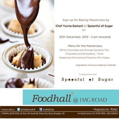 Always wanted to bake some yummy-licious tarts and cakes? Foodhall India & Spoonful Of Sugar are hosting a baking workshop on 20th Dec at Foodhall Bangalore! Register now...