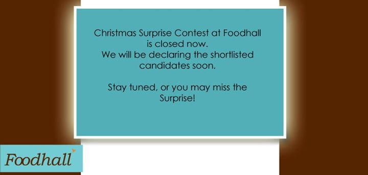 The Christmas Surprise contest has been closed. Check out the names of Shortlisted participants here in an hour.  Winners will be selected from them!  Stay tuned or you may miss the surprise!