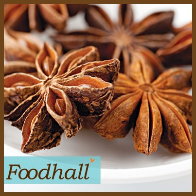 Star anise adds an exquisite flavour to Pilaf, Biryanis and meat dishes