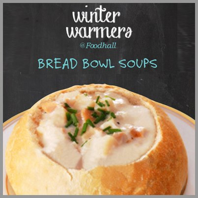 You can indulge in spoonfuls of delicious soup served in toasty bread bowls at Foodhall. What are you waiting for?
