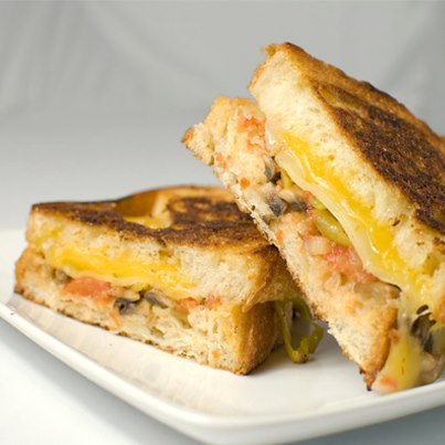 A 3-tier cheesy grilled sandwich makes even the most horrible of days look instantly better. Wouldn't you agree?