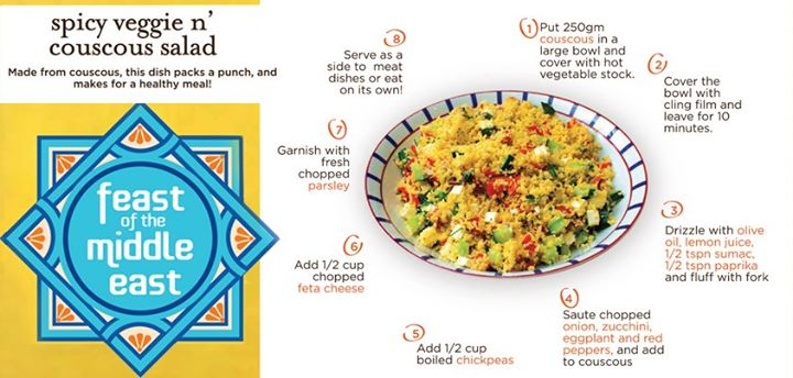 A Veggie & Cous-Cous Salad to kickstart your healthy food diet. Good idea, yes?