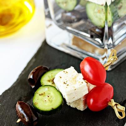Don't these Greek Salad Skewers look delicious?