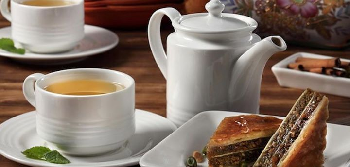 Baklava and mint tea to de-stress after a long day, yes?