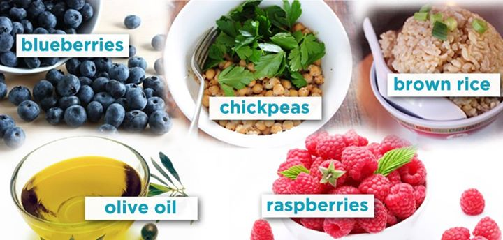 A Mediterranean Diet is rich in raspberries, brown rice, chickpeas, blueberries and olive oil. Quite a variety of foods to choose from, no?