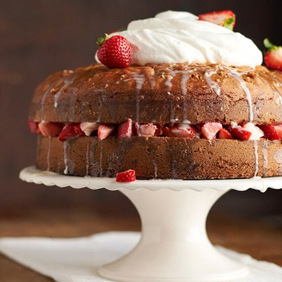 A classic Tres Leche - 3 milk cake - infused with chocolate, layered with strawberries and topped with whipped cream is every food lover's paradise.