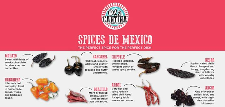 Your low-down on Mexican spices. Hot! Hot! Hot!