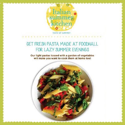 Feeling lazy this hazy summer evening? Hop into Foodhall and enjoy fresh veggies pasta cooked at our live counters just for you.