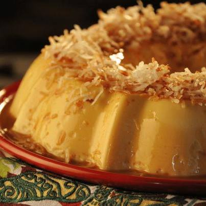 Indulge in delicious and soft Coconut Flan tonight. Yes, you must!