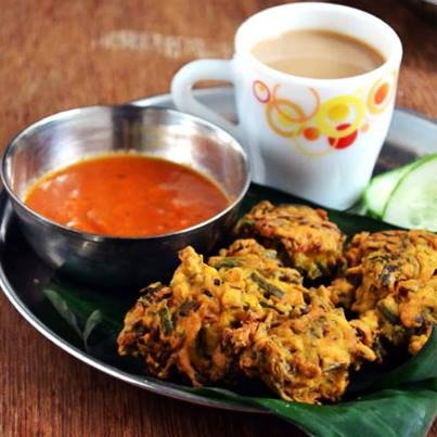 Hot and spicy pakoda with hot masala tea, anyone?