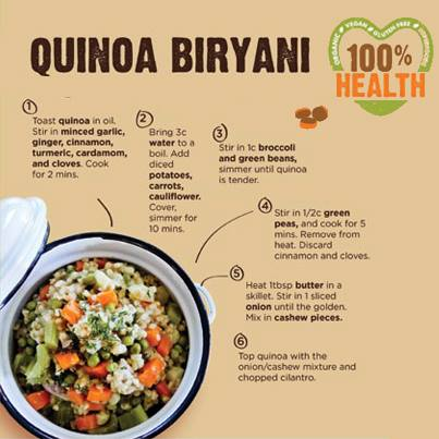All ingredients needed to make an awesome Quinoa Biryani are available at Foodhall. Drop in and purchase the ingredients to cook the best in biryani!