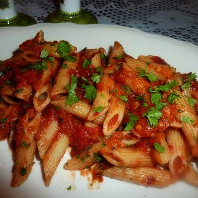 YUMMY! One look at Arrabiata Pasta and you can't help but feel hungry.
