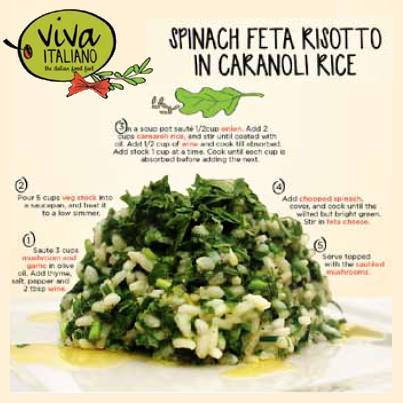 This Spinach Feta Risotto in Caranoli Rice is a must-cook recipe. Try it and tell us how it turned out to be!