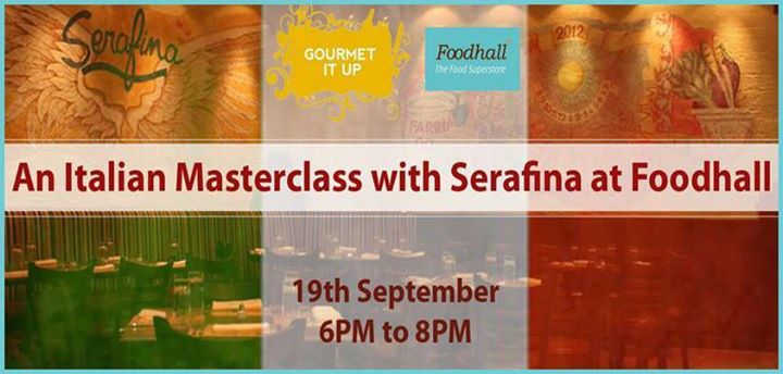 #Mumbai! It is #Masterclass time. Learn how to make sumptuous Italian dishes at Foodhall in an Italian Masterclass with Serafina. This is your chance to learn, taste and then cook like a pro. For further details/registration, click on http://tinyurl.com/k4tsrok or call 9619551387 . #GourmetItUp