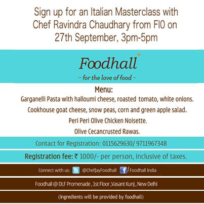 #Delhi! It's time you mastered #Italian Cooking. It's #Masterclass time.