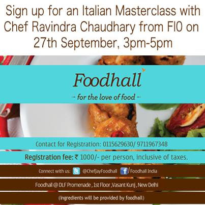It's #Masterclass day #Delhi. See you at Foodhall!