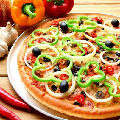 Need to cook a quick dinner? Then grab that pizza bread, spread pizza mix on it, add tomatoes, bell peppers and cheese and you are good to go!