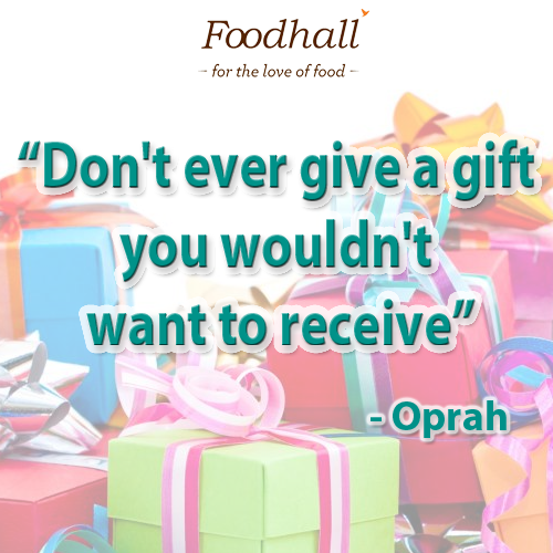 Foodhall,  gifts, quotes