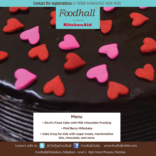 Kids, it is time to learn to #bake! This festive season, get your kids to learn all about icing and baking from Chef Hanisha Singh at Foodhall @ Palladium on 14th december from 3pm to 5pm. Free entry. #Masterclass #Mumbai
