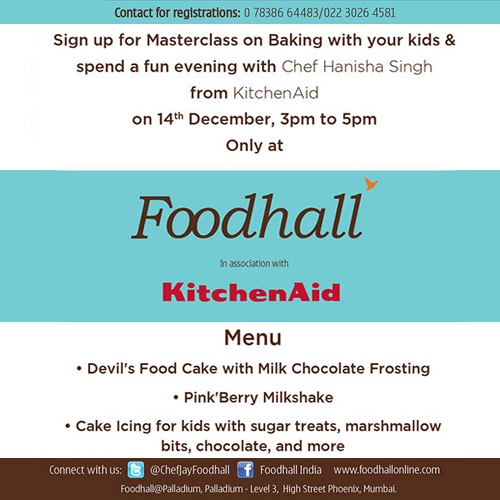 It is #Kids #Masterclass day! Bring your kids for a fun evening of baking at Foodhall @ Palladium today! :D