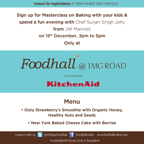 It is #Kids #Masterclass time! Get your kids to learn superb desserts from the master baker! #Bangalore