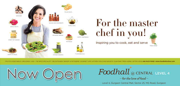 There's another Foodhall that's now opened, all! And this time it's in Gurgaon! :D