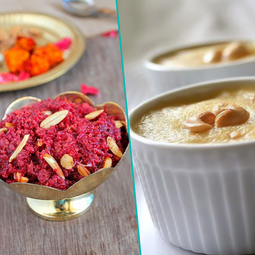 Beetroot halwa vs. Rava Kesari halwa - what would you pick?