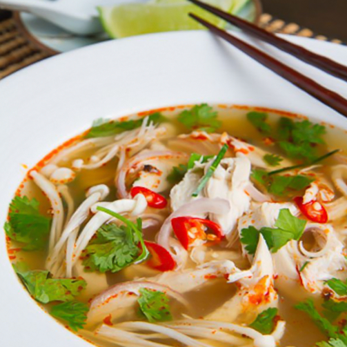 In a mood for oriental magic? You're going to love the Tom Yum and chicken #soup!
