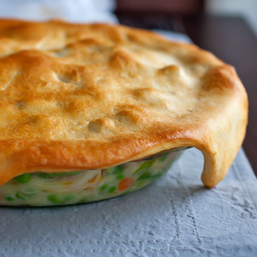 Nothing like curling up with a book and some vegetable pot pie!