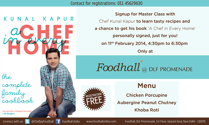 Learning to cook a 3 course meal, interacting with celebrity chef Kunal Kapur and getting an autographed book - sounds like an idea way to spend the evening! #Delhi