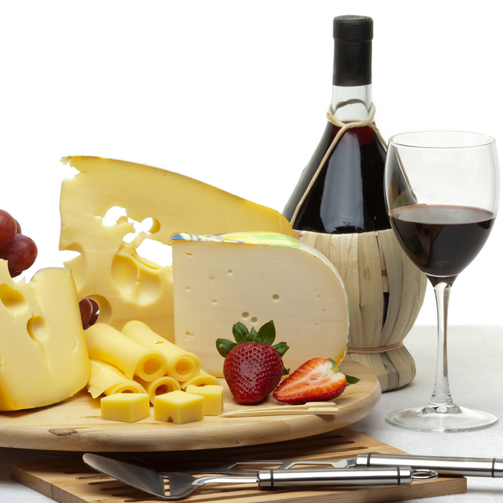 Cheese and wine are the golden couple of food pairings. They complement eachother perfectly! #True