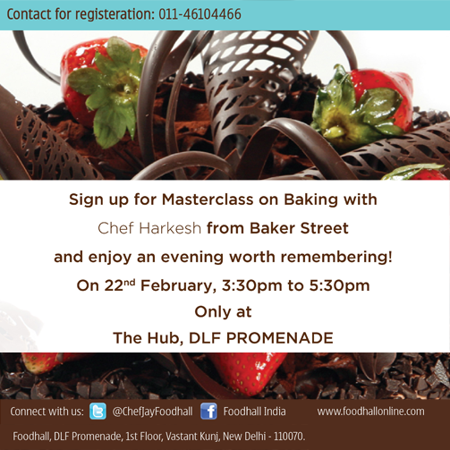 Chef Harkesh from Baker Street brings to you the best in #baking. Sign up for this #Masterclass right away! #Delhi