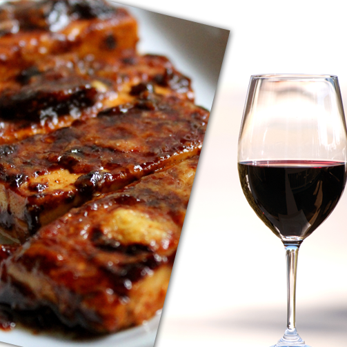 Enjoy barbecued cottage cheese with a neat glass of good red wine after a long day's work. Perfect way to relax!