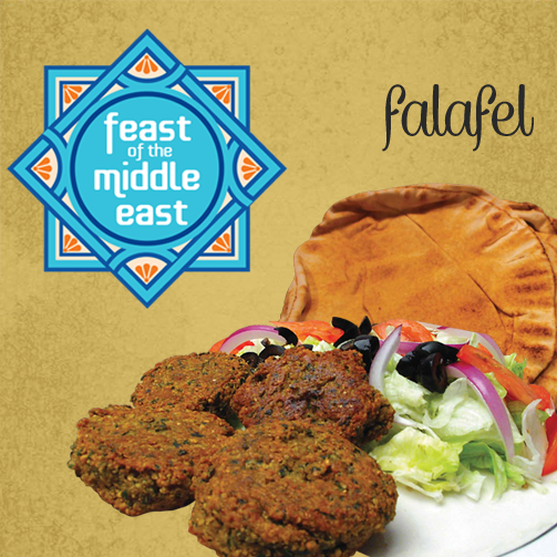 The vegetarian falafel wrap is made fresh at Foodhall. And it tastes delish! So come, try it.